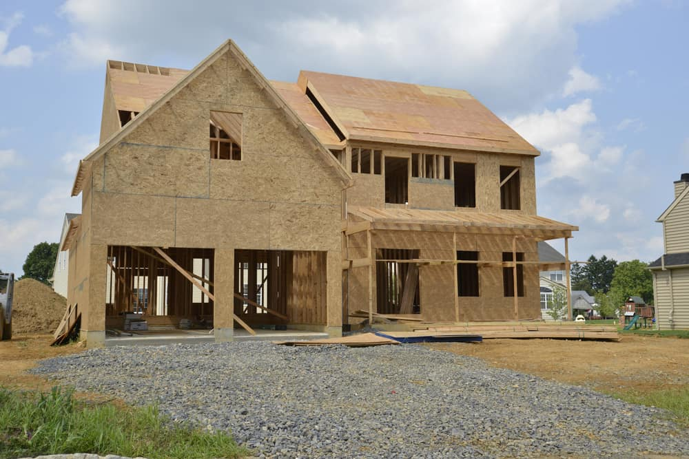 House under construction that would qualify for builders risk insurance