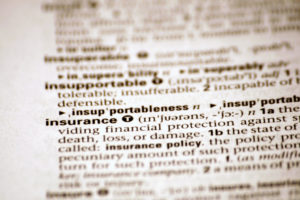 Insurance in dictionary